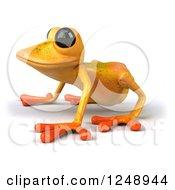 3d Yellow Frog Facing Left