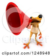 3d Yellow Frog Announcing With A Megaphone 4