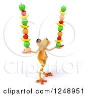 3d Yellow Frog Balancing Fruit 3