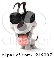 Clipart Of A 3d Jack Russell Terrier Dog In Sunglasses Royalty Free Illustration
