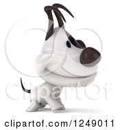 Clipart Of A 3d Jack Russell Terrier Dog Smiling And Walking Royalty Free Illustration