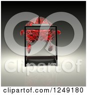 Clipart Of A 3d Red Glass Brain Running On A Treadmill Royalty Free Illustration