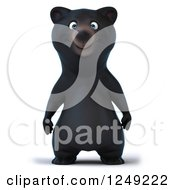Clipart Of A 3d Black Bear Standing Upright Royalty Free Illustration by Julos