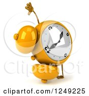 Clipart Of A 3d Yellow Alarm Clock Royalty Free Illustration by Julos