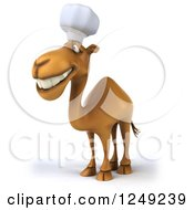 Clipart Of A 3d Camel Chef Facing Left 3 Royalty Free Illustration