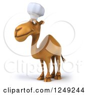 Clipart Of A 3d Camel Chef Facing Left Royalty Free Illustration