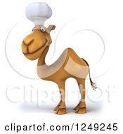 Clipart Of A 3d Camel Chef Facing Left 2 Royalty Free Illustration