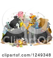 Clipart Of A Heap Of Stinky Messy Garbage Royalty Free Vector Illustration