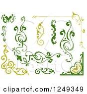 Clipart Of Green Vine Borders Royalty Free Vector Illustration