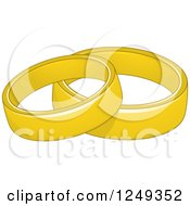 Clipart Of Simple Gold Wedding Band Rings Royalty Free Vector Illustration