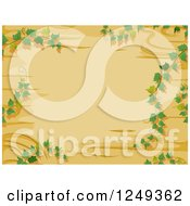 Clipart Of A Wooden Background With Vines Royalty Free Vector Illustration
