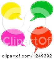 Clipart Of Colorful Speech Balloons On White Royalty Free Illustration