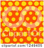 Clipart Of A Background Of Yellow And Orange Polka Dots Royalty Free Illustration