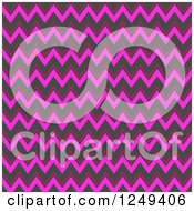 Clipart Of A Background Of Pink Chevrons Royalty Free Illustration