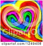 Clipart Of A Background Of A Colorful Heart Royalty Free Illustration by Prawny