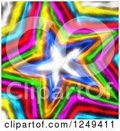 Clipart Of A Background Of A Colorful Star Royalty Free Illustration by Prawny