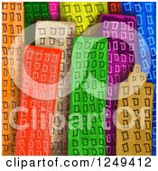 Clipart Of A Background Of Colorful City Skyscraper Buildings Royalty Free Illustration by Prawny