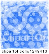 Clipart Of A Background Of Distressed Blue Polka Dots Royalty Free Illustration