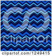 Clipart Of A Background Of Blue Chevrons Royalty Free Illustration