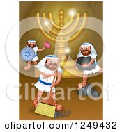 Clipart Of A Maccabees Restoring A Temple Royalty Free Illustration