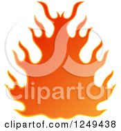 Clipart Of A Fire Royalty Free Illustration