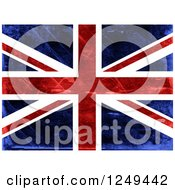 Clipart Of A Distressed Union Jack Flag Royalty Free Illustration by Prawny