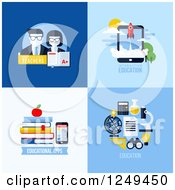 Clipart Of Educational Icons Royalty Free Vector Illustration by elena