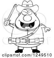 Clipart Of A Black And White Chubby Civil War Confederate Soldier Man Holding Up A Sword Royalty Free Vector Illustration