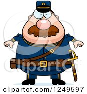 Clipart Of A Chubby Civil War Union Soldier Man Royalty Free Vector Illustration