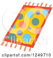 Clipart Of A Colorful Polka Dot Rug Royalty Free Vector Illustration