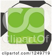 Clipart Of A Green Frame Over A Football Soccer Ball Royalty Free Vector Illustration