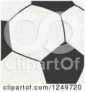 Grungy Football Soccer Ball