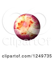 Clipart Of A 3d Pink Mandelbrot Fractal Globe Royalty Free Illustration
