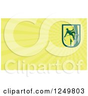 Clipart Of A Climbing Arborist Tree Surgeon And Ray Business Card Design Royalty Free Illustration