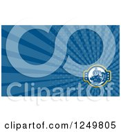 Clipart Of A Steam Train And Ray Business Card Design Royalty Free Illustration