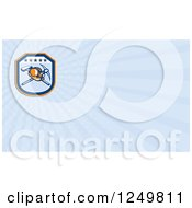 Clipart Of A Coal Mining Hardhat And Tools And Ray Business Card Design Royalty Free Illustration