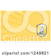 Clipart Of A Captain Fisherman And Ray Business Card Design Royalty Free Illustration by patrimonio