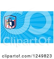 Clipart Of A Forklift And Ray Business Card Design Royalty Free Illustration by patrimonio
