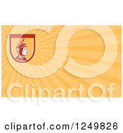 Clipart Of A Native American Indian Chief And Ray Business Card Design Royalty Free Illustration