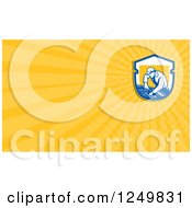 Clipart Of A Car Mechanic Working And Ray Business Card Design Royalty Free Illustration