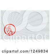 Clipart Of A Miner With A Pickaxe And Ray Business Card Design Royalty Free Illustration