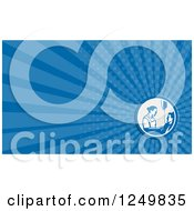 Clipart Of A Nurse And Patient And Ray Business Card Design Royalty Free Illustration