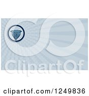 Clipart Of A Panther Face And Ray Business Card Design Royalty Free Illustration