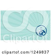 Clipart Of A Pharmacist And Ray Business Card Design Royalty Free Illustration