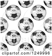 Clipart Of A Seamless Background Pattern Of Soccer Balls Royalty Free Vector Illustration