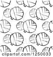 Clipart Of A Seamless Background Pattern Of Black And White Artichokes Royalty Free Vector Illustration by Vector Tradition SM