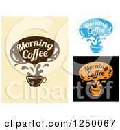 Clipart Of A Morning Coffee Text Cloud Over A Cup Royalty Free Vector Illustration