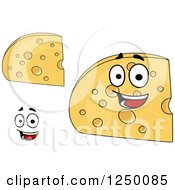 Clipart Of Cheese Wedges Royalty Free Vector Illustration