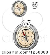 Clipart Of Compasses Royalty Free Vector Illustration