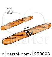 Clipart Of Baguette Breads Royalty Free Vector Illustration